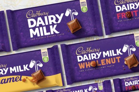 Cadbury undergoes its first major design rebrand in 50 years